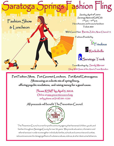 Saratoga Springs Fashion Fling Advertisement